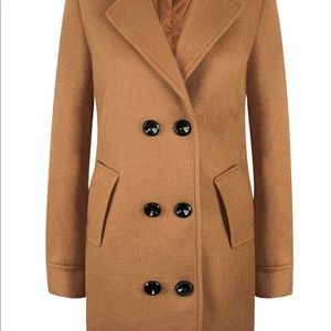 Women's Wool Trench Coat Double Breasted Overcoat